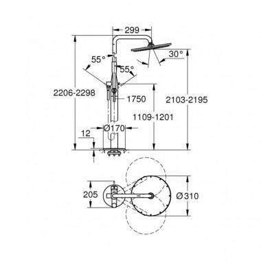 3 SD00032214 Душевая система Grohe Essence 23741001