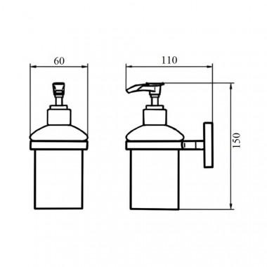 4 SD00028395 Дозатор для жидкого мыла Cosh (CRM)S-81-612
